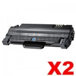 2 x Compatible Samsung ML-1915/2520/2525/2540/2540/2545/2580N/SCX-4623F (MLT-D105L 105L) Black Toner Cartridge SU768A - 2,500 pages