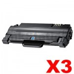 3 x Compatible Samsung ML-1915/2520/2525/2540/2540/2545/2580N/SCX-4623F (MLT-D105L 105L) Black Toner Cartridge SU768A - 2,500 pages