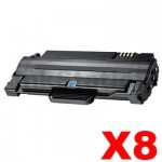 8 x Compatible Samsung ML-1915/2520/2525/2540/2540/2545/2580N/SCX-4623F (MLT-D105L 105L) Black Toner Cartridge SU768A - 2,500 pages
