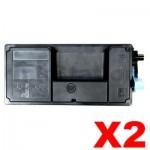 2 x Non-Genuine TK-3134 Black Toner Kit For Kyocera FS-4200DN, FS-4300DN - 25,000 pages