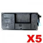 5 x Non-Genuine TK-3134 Black Toner Kit For Kyocera FS-4200DN, FS-4300DN - 25,000 pages