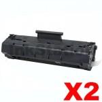 2 x Canon EP-22 Black Compatible Toner Cartridge - 2,500 pages
