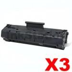 3 x Canon EP-22 Black Compatible Toner Cartridge - 2,500 pages