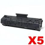 5 x Canon EP-22 Black Compatible Toner Cartridge - 2,500 pages