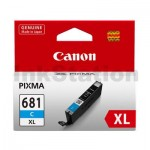 Canon CLI-681XLC High Yield Genuine Cyan Inkjet Cartridge - 515 pages