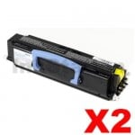 2 x Dell 1720 Black (High Yield) Compatible Laser Toner Cartridge - 6,000 pages