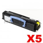 5 x Dell 1720 Black (High Yield) Compatible Laser Toner Cartridge - 6,000 pages