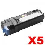 5 x Dell 1320 / 1320C / 1320CN Black Compatible laser - 2,000 pages