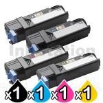 4-Pack Dell 1320 / 1320C / 1320CN Compatible Toner Cartridge [1BK,1C,1M,1Y]