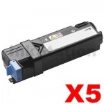 5 x Dell 2130cn 2135cn Black Compatible laser toner Cartridge - 2,500 pages
