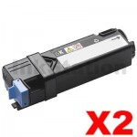 2 x Dell 2150CN,2150CDN,2155CN,2155CDN  Black Compatible Toner - 3,000 pages