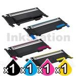 4 Pack Dell 1230C, 1235CN B,C,M,Y Compatible Toner Cartridges [1BK,1C,1M,1Y]