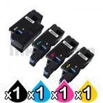4 Pack Dell E525, E525w Compatible Toner Combo [1BK,1C,1M,1Y]