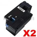 2 x Dell E525, E525w Compatible Black Toner Cartridge - 2,000 pages
