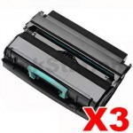 3 x Dell 2330 2350 Compatible Black High Yield Toner Cartridge - 6,000 pages
