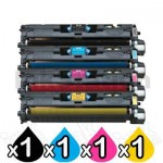4-Pack Compatible Laser Toner Cartridge Combo for Canon LBP 2410