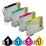 4 Pack Epson Compatible 73N Series Ink Combo [T0731- T0734] [1BK,1C,1M,1Y]