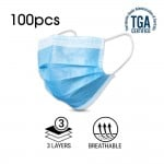 100PCS Disposable Face Mask 3 Layer Protective