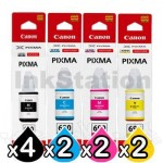 10-Pack Genuine Canon GI690 Ink Bottles [4BK+2C+2M+2Y]