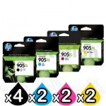 10 Pack HP 905XL Genuine High Yield Inkjet Combo T6M05AA-T6M17AA [4BK,2C,2M,2Y]