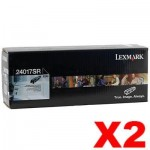 2 x Lexmark (24017SR) Genuine E240 Toner Cartridge - 2,000 pages