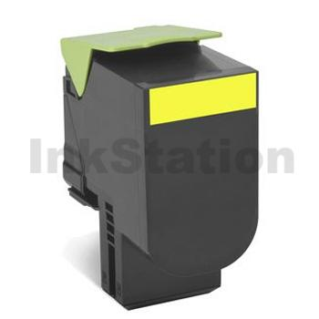 1 x Lexmark (80C8HY0) Compatible CX410 / CX510 Yellow High Yield Toner Cartridge - 3,000 pages