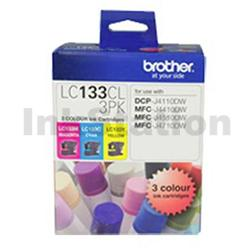 Genuine Brother LC-133CL3PK Colour Pack [C+M+Y] - 600 Pages each