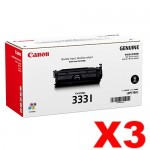3 x Genuine Canon CART-333I Black High Yield Toner Cartridge - 17,000 Pages