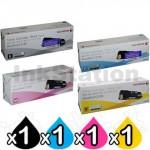 4 Pack Fuji Xerox DocuPrint C2120 Genuine Toner Cartridges (CT201303-CT201306)
