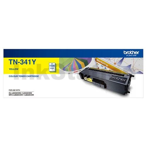Genuine Brother TN-341Y Yellow Toner Cartridge - 1,500 pages