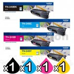 4-Pack Genuine Brother TN-349 Toner Combo [1BK,1C,1M,1Y]