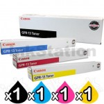 4 Pack Genuine Canon TG-23 (GPR-13) Toner Cartridges [1BK,1C,1M,1Y]