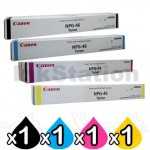 4 Pack Genuine Canon (GPR-31) TG-46 Toner Cartridge [1BK,1C,1M,1Y]