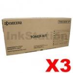 3 x Genuine Kyocera TK-3104 Black Toner Kit FS-2100D, FS-2100DN - 12,500 pages