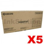 5 x Genuine Kyocera TK-3104 Black Toner Kit FS-2100D, FS-2100DN - 12,500 pages