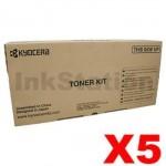 5 x Genuine Kyocera TK-3104 Black Toner Kit FS-2100D, FS-2100DN - 12,500 pages