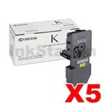 5 x Genuine Kyocera TK-5234K Black Toner Cartridge Ecosys M5521, P5021 - 2,600 pages