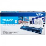Brother TN-240C Genuine Cyan Toner Cartridge - 1,400 pages