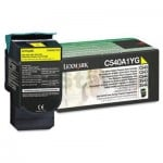 Lexmark (C540A1YG) Genuine C540 / C543 / C544 / C546 / X543 / X544 / X546 Yellow Toner Cartridge - 1,000 pages