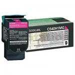 Lexmark (C540H1MG) Genuine C540 / C543 / C544 / C546 / X543 / X544 / X546 Magenta HY Toner Cartridge - 2,000 pages