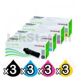 3 sets of 4 Pack Genuine Fuji Xerox DocuPrint CP315, CM315 Toner Cartridges (CT202610-CT202613)