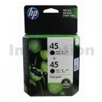 HP 45 Genuine [Twin Pack] Black Inkjet Cartridge CC625AA [2BK]