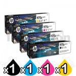 4 Pack HP 975X Genuine High Yield Inkjet Combo L0S00AA - L0S09AA [1BK,1C,1M,1Y]