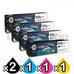 5 Pack HP 975X Genuine High Yield Inkjet Combo L0S00AA - L0S09AA [2BK,1C,1M,1Y]