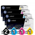 5 Pack HP 508X (CF360X-CF363X) Genuine Toner Cartridges  [2BK,1C,1M,1Y]