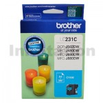 Brother LC-231 Genuine Cyan Ink Cart - 260 Pages