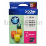 Brother LC-231 Genuine Magenta Ink Cart - 260 Pages