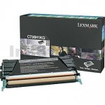 Lexmark (C736H1KG) Genuine C736 / X736 / X738 Black High Yield Toner Cartridge - 12,000 pages
