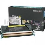 Lexmark (C736H1YG) Genuine C736 / X736 / X738 Yellow High Yield Toner Cartridge - 10,000 pages