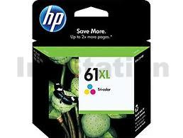 HP 61XL Genuine Colour High Yield Inkjet Cartridge CH564WA - 330 Pages